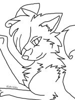 Wolf Request Line Art by wolvesforever122