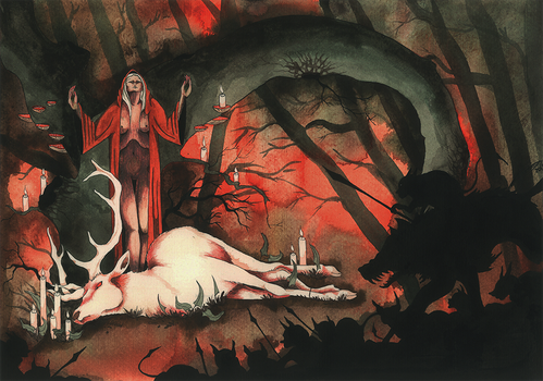 Death of the white stag by Feidhelm
