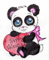 Happy Valentine con Panda xD by xXTatsuha-HoneyXx