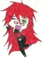 Grell Sutcliff Chibi by Shadowismrevilgecko