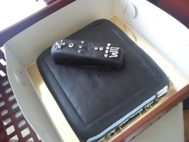 Nintendo Wii cake by BlessedBex