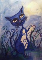 My Crazy Blue Cat by MademoiselleOrtie