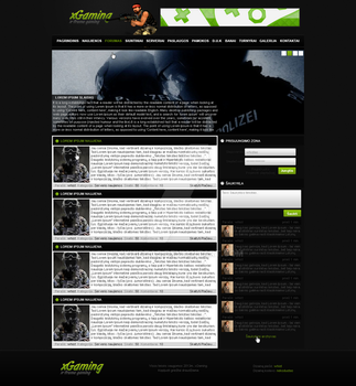xGaming web design by Whistas