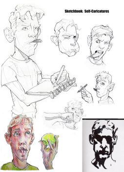 BFA App P4: Self Caricatures by greeni-studio