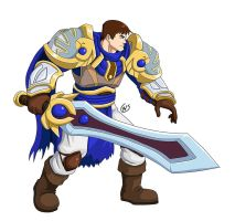 League of Fighters: Garen Neutral Stance by Shouhda