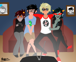 Homestuck- Movie Night by SuPeR--nErD