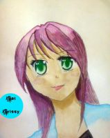Watercolor Girl :test: by catcrissy