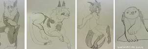 Sketch commissions by burmalloo