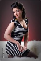 Striped Pin-Up by EdgarPoe190