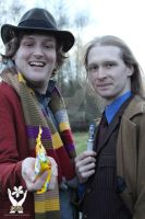 Tenth Doctor And The Fourth Doctor by joker99xdraven