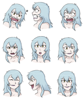 Facial Expressions - Arukenimon by demonoflight