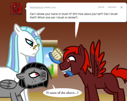 Ask Valier Brushing by The-Clockwork-Crow