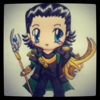 Loki - Avengers Chibi by LookAliveHolly