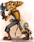 Ratchet and Clank by RoboticMasterMindX
