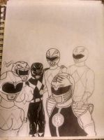Power Rangers Selfie by SDiaz329