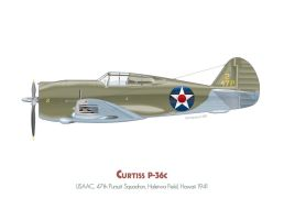 Curtiss P-36c by MercenaryGraphics