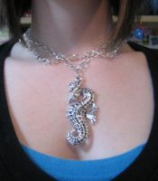 Seahorse Necklace by xkiddo