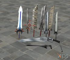 Final Fantasy XPS Weapon Pack by DatKofGuy
