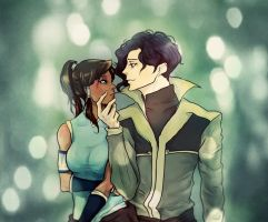Korra and Tahno 3 by Purple-Meow