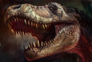 color drafit of T-rex head by cheungchungtat