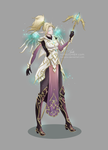 Blood Elf Priestess Mercy: Skin Concept by Flurryfox