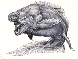 Nightmare Dunkleosteus by BLACK-HEART-SPIRAL