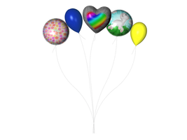 STOCK PNG multicolour balloon2 by MaureenOlder