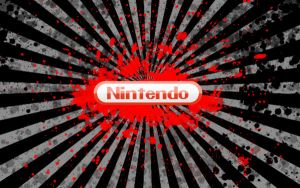 nintendo logo bloody sun by Superxero0