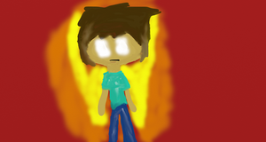 Herobrine with glowing wings by Fgpinky123