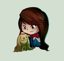 The Girl and the Dog by project-l