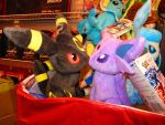 Espeon x Umbreon plushies! by ryanthescooterguy
