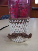 Mustache Cup Coozie by kittylvr8577