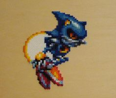 Metal Sonic Bead Sprite by monochrome-GS