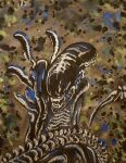 Alien Xenomorph Painting by Desert-Carnation006