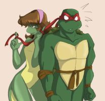 Raph and Mona Revamped by Ty-Chou