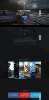 Onepage design for a small games studio. by Mathi-94