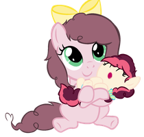 AU: Cherry and Cupcake: Lookie at baby sister! by RaindropLily
