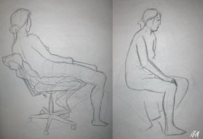Life Drawing Compilation 1 by Chicken008