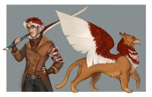Red Griffin by morteraphan