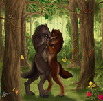 Lovers - Commission by KeksWolf