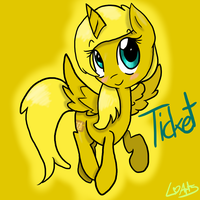 ((DETAILED SHADED COMMISSION)) Ticket by 0ColorPaint0