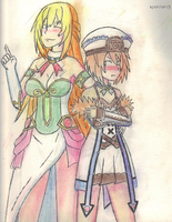 Blanc and Vert hanging out. by LeafGreen1924