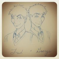 Fred and George Weasley by Sweetbread9