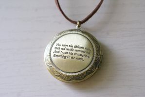 Prose Locket Necklace by MonsterBrandCrafts