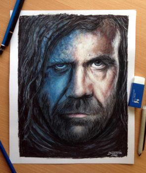 Sandor Clegane/Dog : Game of thrones color pencil by AtomiccircuS