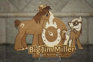 Big Jim Miller EFNW 2015 Plaque by Earth-Pony