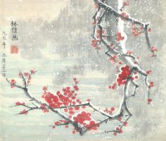 Frozen Cherry Blossom by r41j1n