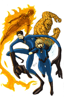 The Fantastic Four by kyomusha