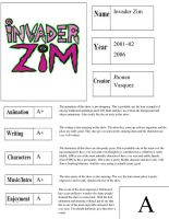 Invader Zim Report Card by happylemur37