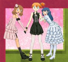 Gothic Lolita Pokemon Girls. by Arisusa